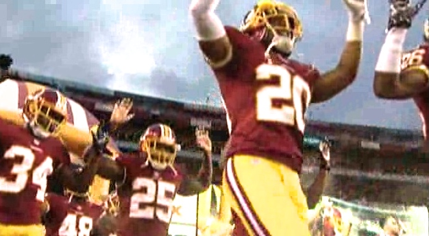 redskins hands up