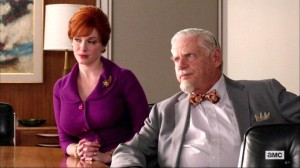 "Christina Hendrix and Robert Morse in a scene from AMC's ""Mad Men"""