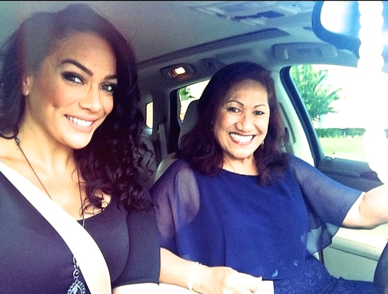 Dwayne Johnson's mom ata Johnson and cousin Lina Fanene