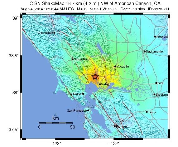bay area earthquake map