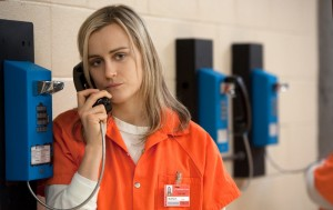 "Taylor Schilling in ""Orange Is the New Black"" season 2, episode 1 (""Thirsty Bird"")"