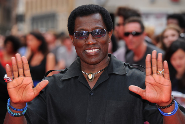 "Wesley Snipes attends the World Premiere of ""The Expendables 3"" at Odeon Leicester Square on August 4, 2014 in London, England"