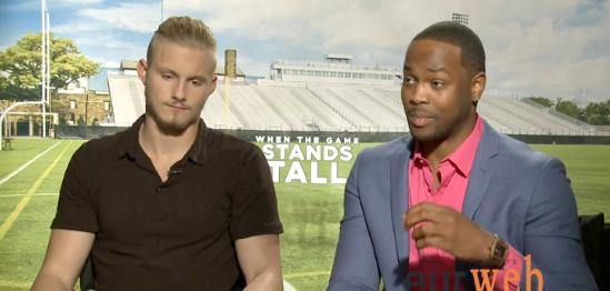 when the game stands tall actors (alexander ludwig & ser'darius blain)