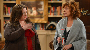 Melissa McCarthy and Susan Sarandon in 'Mike & Molly' Season 4, episode 19: 'Who's Afraid of J.C. Small?'