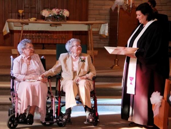 "Vivian Boyack and Alice ""Nonie"" Dubes finally say, ""I Do""…legally!"