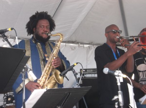 Kamasi Washington and Ryan Porter: Photo Credit, Ricky Richardson