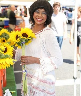 Lark Voorhies at the Hollywood Farmer's Market on Sunday, Aug. 31, 2014