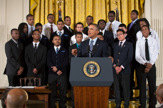 President Obama signs My Brothers Keeper Initiative