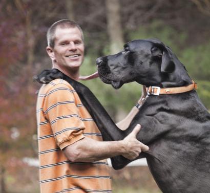 Zeus and owner Kevin Doorlag