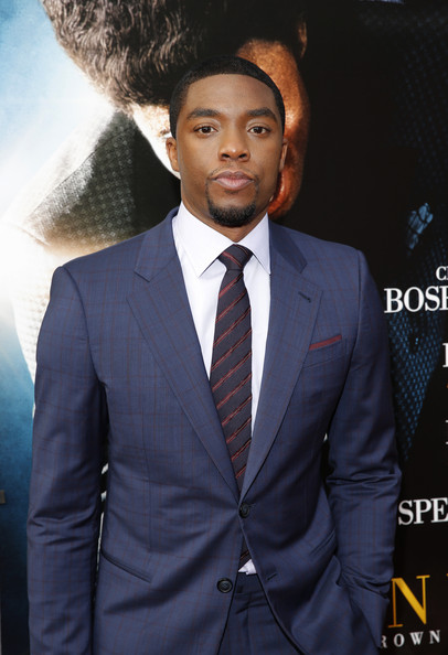 """Actor Chadwick Boseman attends the """"Get On Up"""" premiere at The Apollo Theater on July 21, 2014 in New York City"""