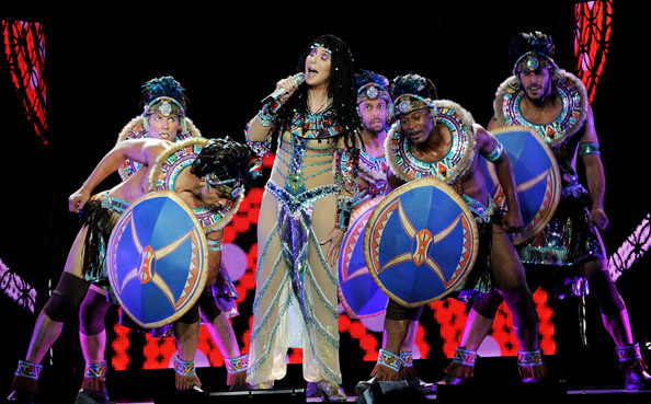 Singer Cher performs onstage during the 'Dressed 2 Kill' tour at Staples Center on July 7, 2014 in Los Angeles, California