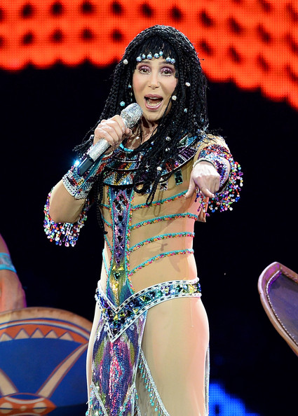 Singer Cher performs at the MGM Grand Garden Arena during her Dressed to Kill tour on May 25, 2014 in Las Vegas, Nevada