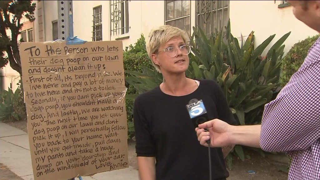 LA Woman Vows To Take Huge Dump' On The Doorstep Of Lazy Dog Owners