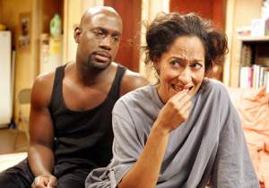 """I Want My Baby Back"" -- Aaron (Richard T. Jones ) discovers Joan (Tracee Ellis Ross) is uncomfortable using the bathroom at his place because she wants to maintian  some of the mystery in their growing relationship in GIRLFRIENDS on The CW."