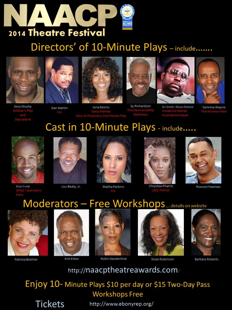 Stars, workshops, plays and more! Sept. 12th-14th 2014 at the Nate Holden Performing Arts Center
