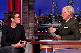 maddow and letterman