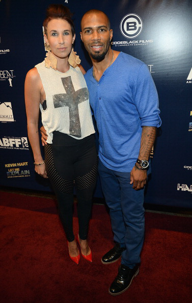 """Omari Hardwick and guest attend the American Black Film Festival 2013 - """"Let Me Explain"""" Premiere at Gusman Center for the Performing Arts on June 22, 2013 in Miami, Florida."""