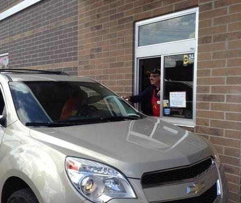 tom joyner serving mcdonalds customer