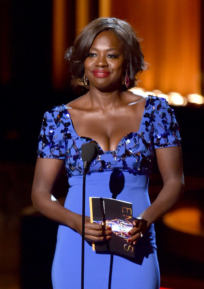 Actress Viola Davis speaks onstage at the 66th Annual Primetime Emmy Awards held at Nokia Theatre L.A. Live on August 25, 2014 in Los Angeles, California