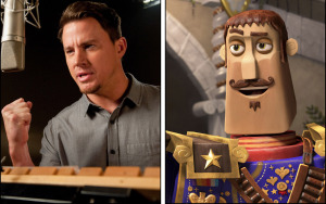 Channing Tatum (left) voices the character Joaquin (right) in 'The Book of Life.'