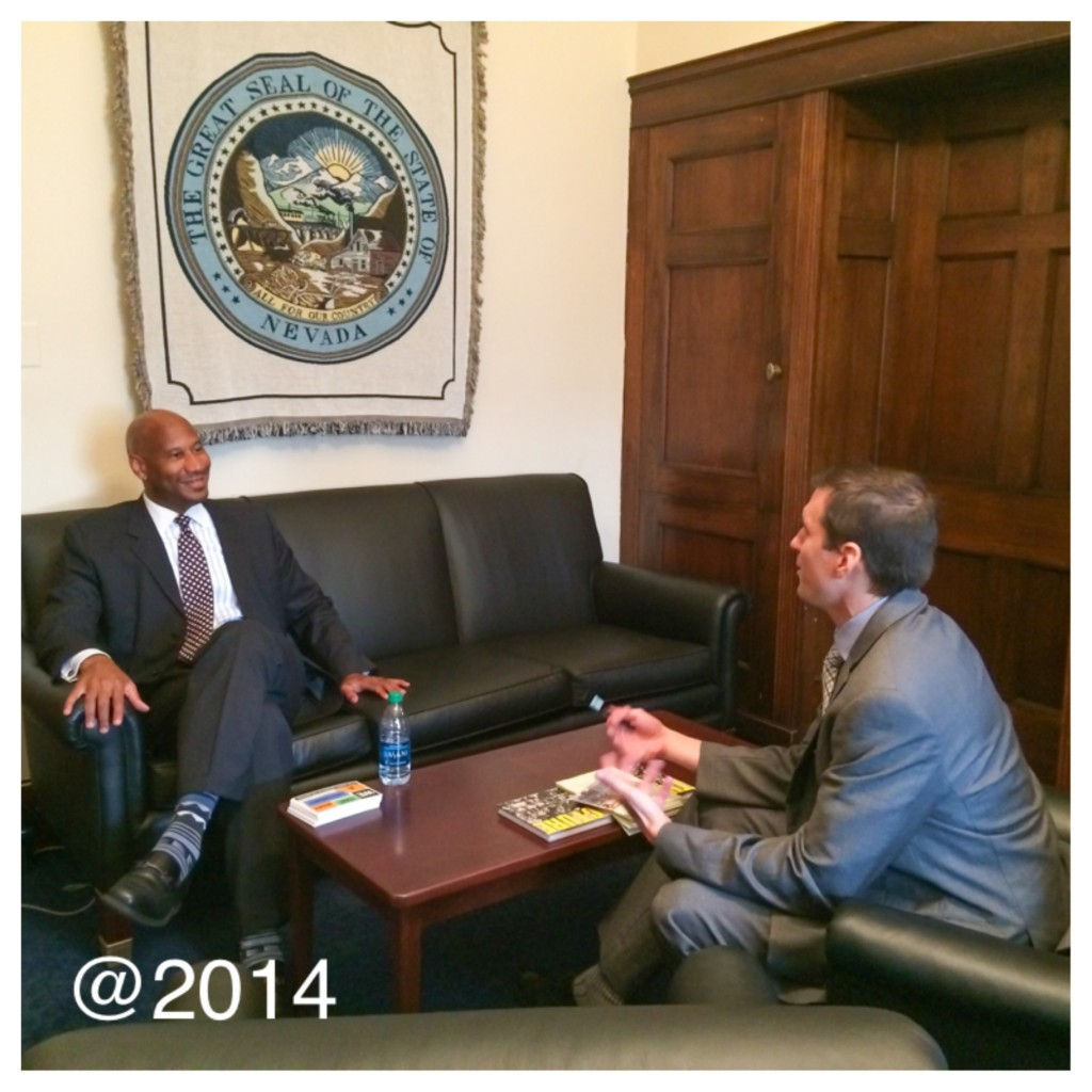 Charles Belk meeting with the Legislative Director from the Office of Congressman Horsford (NV) Sept. 2014