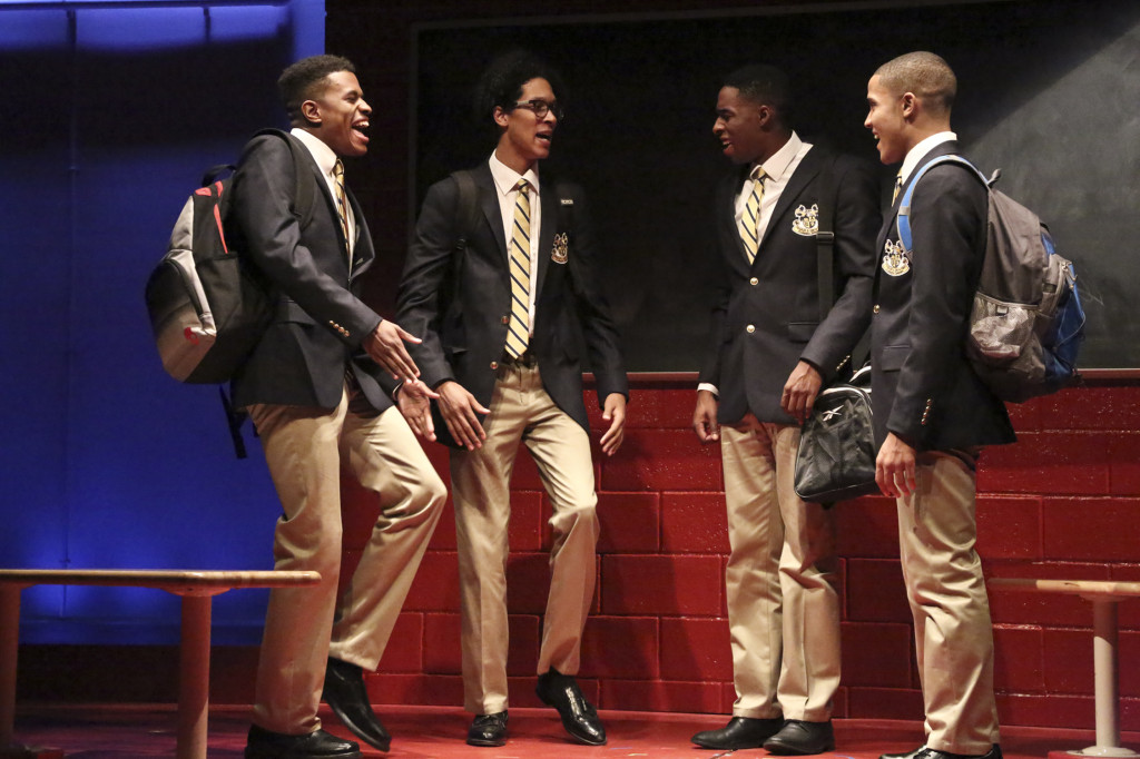 """Credit is """"Jeremy Pope, Caleb Eberhardt, Grantham Coleman and Nicholas L. Ashe. Photo by Michael Lamont."""""""