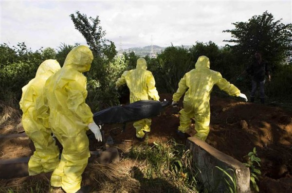 Ebola burial workers