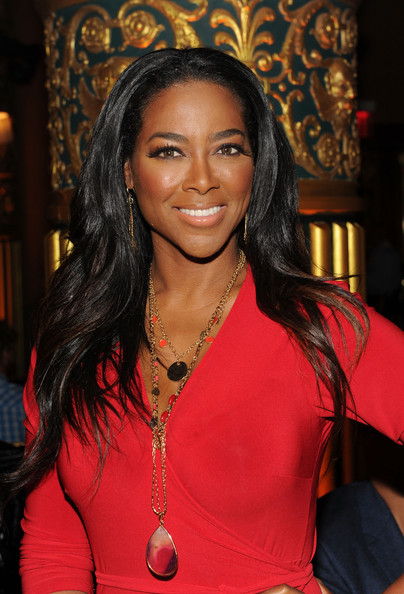 Kenya Moore attends the Kithe Brewster fashion show during Mercedes-Benz Fashion Week Spring 2015 on September 11, 2014 in New York City
