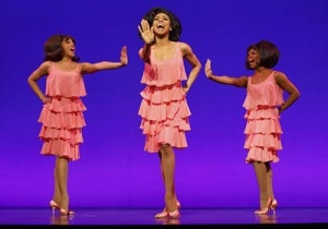 "The Supremes: Krisha Marcano as Florence Ballard, Allison Semmes as Diana Ross and Trisha Jeffrey as Mary Wilson in ""Motown: The Musical."" (Photo: 'Motown: The Musical')"