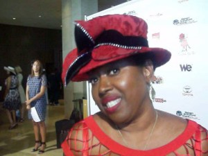 Music executive Vicki Mack, cofounder of GospelCentric - now owned by Sony Music, and current owner of Central South Distributers recevied the 'Focus Award' by First Ladies High Tea.