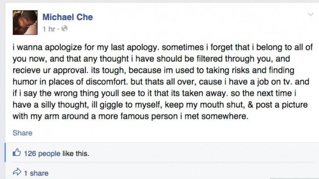 che apology
