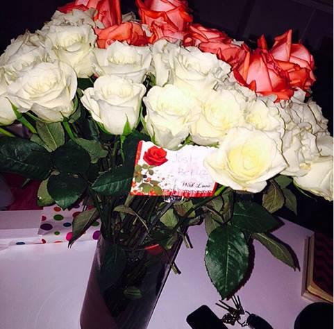 christina milian, flowers,
