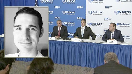 craig spencer & NYC mayor & NY gov