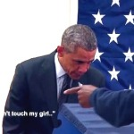 Early Voter Tells Obama: 'Don't Touch My Girlfriend' (Watch)