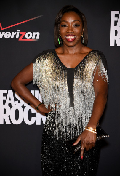 Estelle attends Fashion Rocks 2014 presented by Three Lions Entertainment at the Barclays Center of Brooklyn on September 9, 2014 in New York City