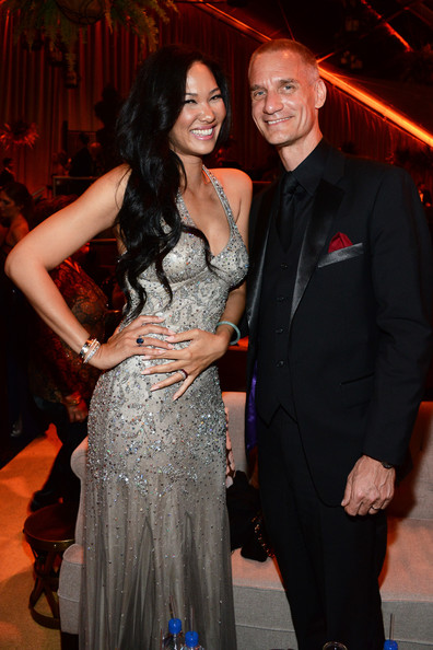 Kimora Lee Simmons (L) and Tim Leissner attend The Weinstein Company & Netflix's 2014 Golden Globes After Party presented by Bombardier, FIJI Water, Lexus, Laura Mercier, Marie Claire and Yucaipa Films at The Beverly Hilton Hotel on January 12, 2014 in Beverly Hills, California