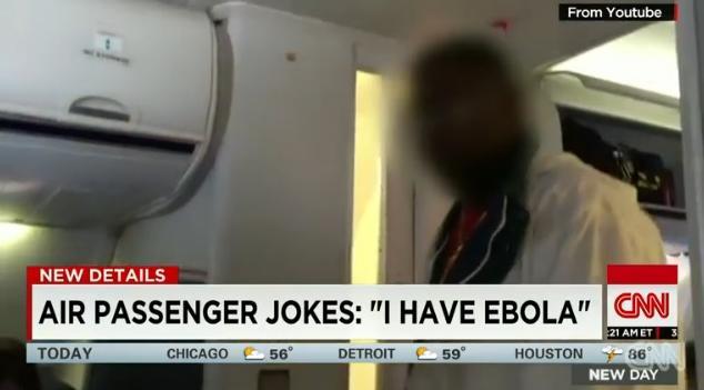 Man On Plane Jokes He Has Ebola Gets Escorted Off