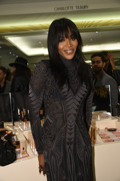 Model Naomi Campbell attends Charlotte Tilbury Arrives In America: VIP Beauty Launch event presented by Bergdorf Goodman 5th Avenue on October 7, 2014 in New York City