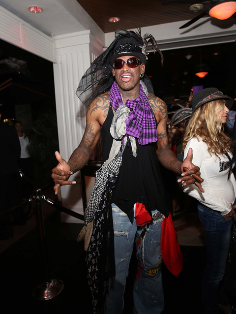 Dennis Rodman at the Carmen Electra-hosted Fright Night