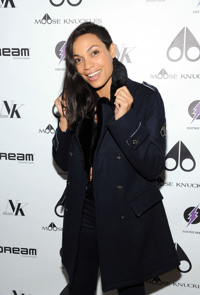Rosario Dawson attends the U.S. launch of Moose Knuckles at Dream Downtown on October 20, 2014 in New York City