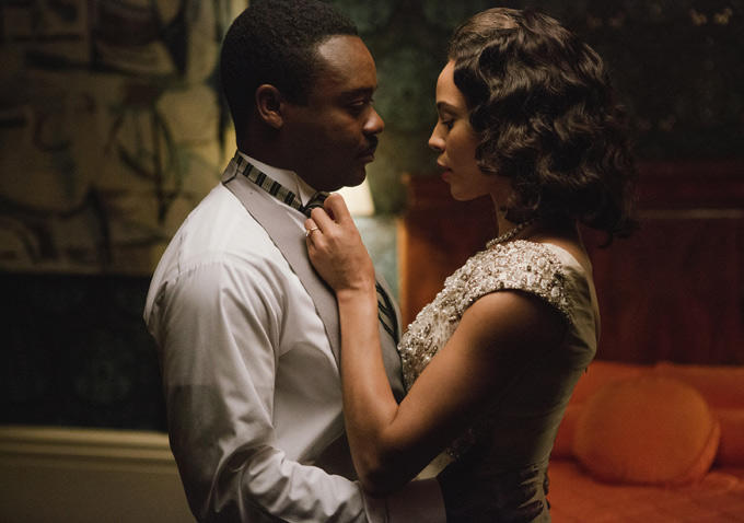 "David Owelowo, Carmen Ejogo as Dr. Martin Luther King and Coretta Scott King in ""Selma"""