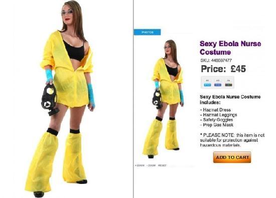 Halloween Tastelessness: Sexy Ebola Nurse Outfit