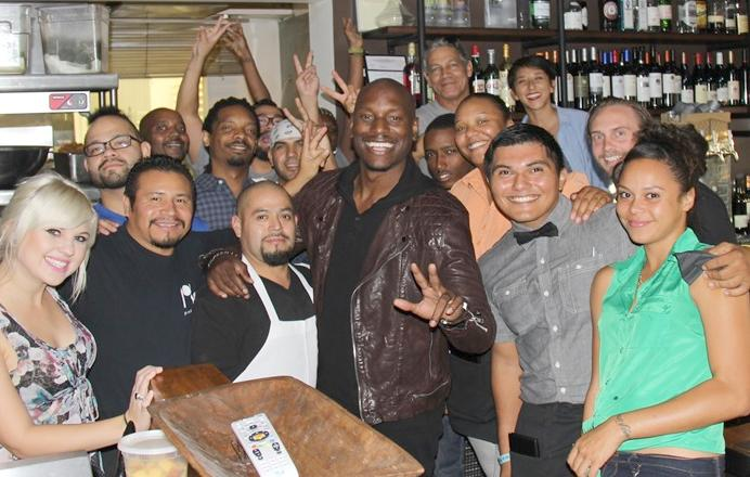 Tyrese Treats Fans to $1K In Food At Post & Beam