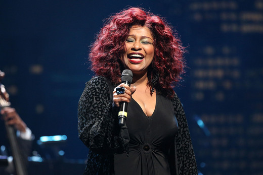 HOLLYWOOD, CA - NOVEMBER 09: Singer/songwriter Chaka Khan performs onstage at the 2014 Thelonious Monk International Jazz Trumpet Competition at Dolby Theatre on November 9, 2014 in Hollywood, California. (Photo by Imeh Akpanudosen/Getty Images for Thelonious Monk Institute of Jazz)