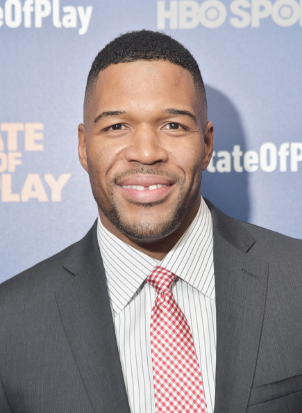 """Football player-turned-TV host Michael Strahan (""""Live With Kelly and Michael"""") is 43"""