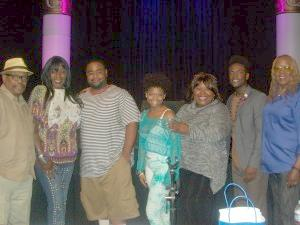 "(Left to right) Lee Bailey (EURweb.com), Gramma Funk (""I See You Baby""), winner Noy Burns, last year's winner Ny' Aira, Ellia English (Disney), Baltimore 2014 winner Calvin Tucker, Jr., and celebrity photographer Koi Sojer. (Photo Credit: Eunice Moseley)."