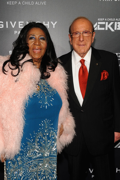 Aretha Franklin (L) and Clive Davis attend Keep A Child Alive's 11th annual Black Ball at Hammerstein Ballroom on October 30, 2014 in New York City.