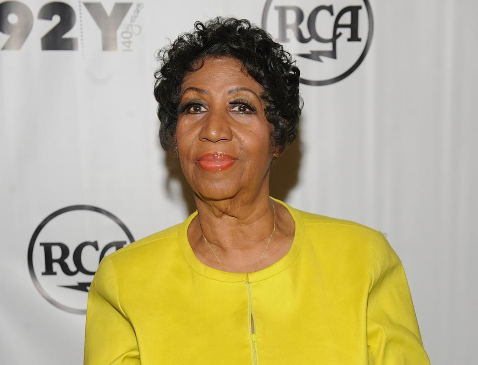 aretha in yellow