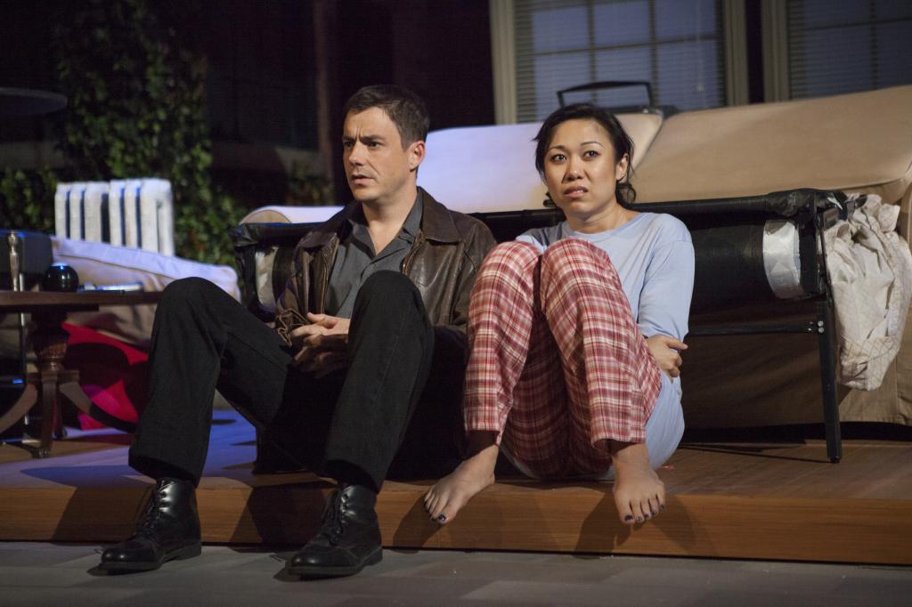 "John Sloan (""George"") and Angela Lin are BFF's"