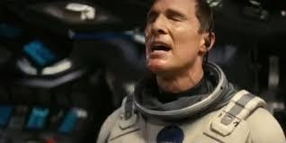 Oscar winner Matthew McCounaughtey stars in the Warner Bros'/Paramount Pictures presentation of Interstella.